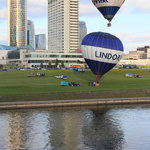 Hot Air Balloons Take Off In Front of Radisson Blu Lietuva