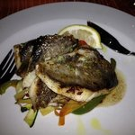 John Dory fillet and stir fry vegetables with dalmatian sauce