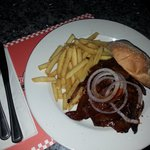 smoked beef roll/sandwich