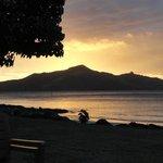 Sunset from the Turtle Island.  Bula!