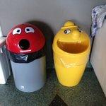 fun trash cans