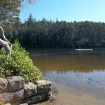 Cleawox Lake- swimming dock.