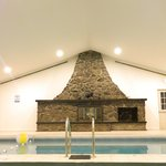 Fire Place in Pool Area