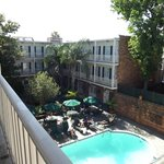 View from the 3rd floor verandah of the pool area.