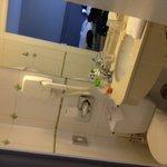 clean bathroom but small