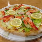 Sandy Point pizza, King Crab