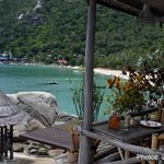 View from Bamboo hut Restaurant to Had Yuan beach
