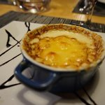 Baked escargot in cheese sauce