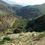 Canyon while trekking along the basalt stone of Wadi Zarqa