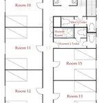 Floor Plan for 3rd level of Australia House. (Back Building. 2014 Season)