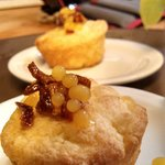 Orange muffin candied Orange Peel and caviared Orange juice