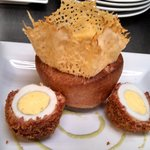 Scotch eggs and fresh pop over