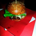 A nice and juicy burger