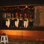 Folk dance in the evening
