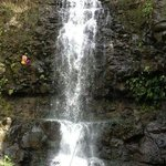 Rappelling Beautiful Papakole'a Falls