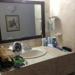 Vanity in hallway
