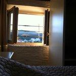 Vista monte della nostra camera! Bellissima...