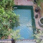 vue piscine de la terrasse