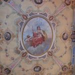 affresco on the ceiling of the room
