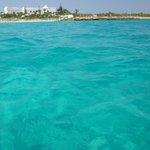 Blue blue sea at Nissi Beach