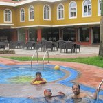 Swimming Pool. with family