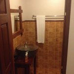 Traditional style bathroom. No separate toilet.