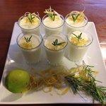 Mousse de limón al Romero