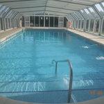 La piscina climatizada, estupenda