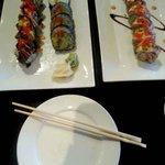 The Black Dragon Roll, The Rising Sun Roll, and the Torched Salmon Roll