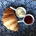Breakfast at Nuka Croissant with rose hip jam
