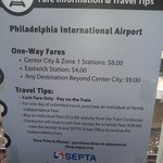 Septa train info from the airport
