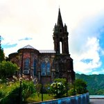 Gothic church on Lagoa das Furnas. Make sure to learn the history about this church.