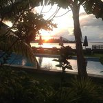 sunset over cocotinos indonesia
