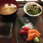 Miso, sashimi and chef's special