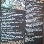 Breakfast menu Sun Oct 6 2013