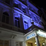 Lancaster Gate Hotel at night