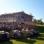 Golf Carts and Club House