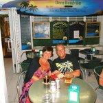 enjoying a drink at ann's bar