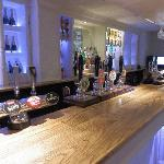 The newly refurbished bar