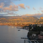 Sorrento at sunset from our balcony