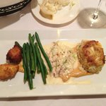 Crab Cake, Corn Fritter In A Creole Remoulade - it's making my mouth water looking at it again!