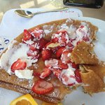 Danish Pancake with strawberries & whipped cream