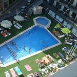 La piscina desde mi terraza