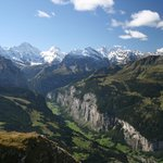 Lauterbrunnen valley from Mannlichen above the Falken
