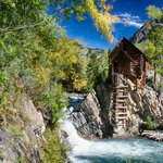 Crystal Mill near Marble, Colorado at 3:30 pm