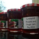 jam made from our rhubarb