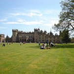 A picnic on the lawn at Floors Castle