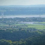 the rivers Wye and Severn and old severn bridge at Beachley