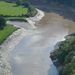 looking below us to river Wye