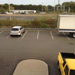 View from Room 228 -- I-95 and parking lot